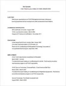 Sample Resume Objectives For Hvac by Hvac Resume Template 7 Free Samples Examples Format