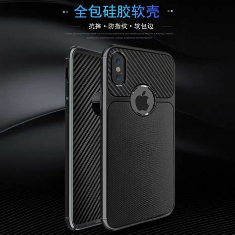 fashion carbon fiber pattern soft tpu for apple iphone xr anti fingerprint anti skid cover