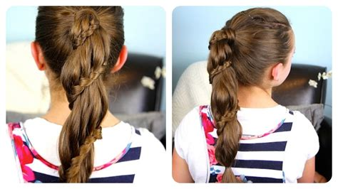 cute girls hairstyles for your crush winding lace braid ponytail cheat cute girls hairstyles