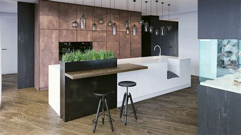 indoor kitchen black white wood kitchens ideas inspiration