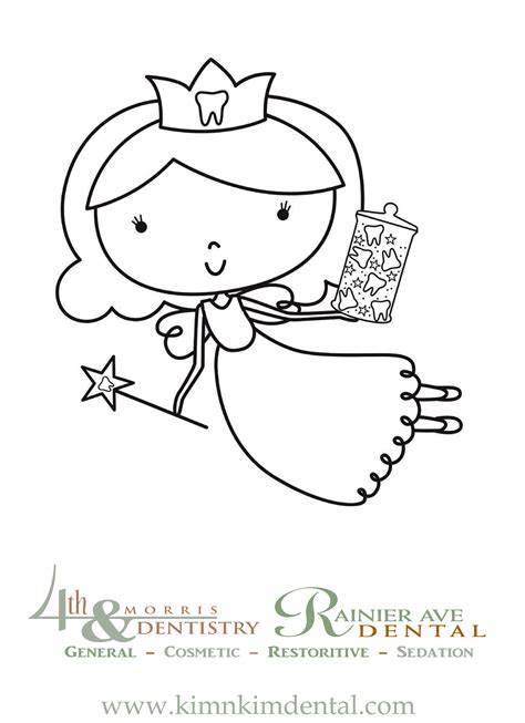 coloring page of tooth fairy coloring page for your liitles http kimnkimdental com