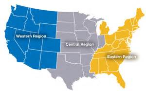 us map east west central markets
