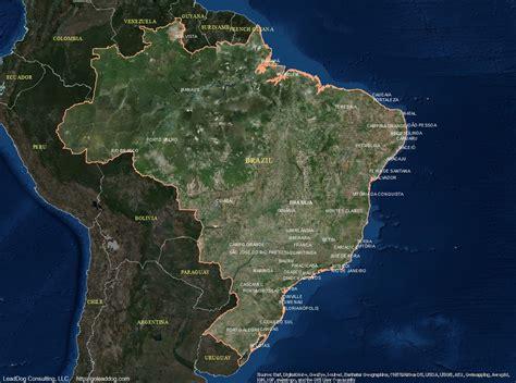 satellite map of brazil brazil satellite maps leaddog consulting