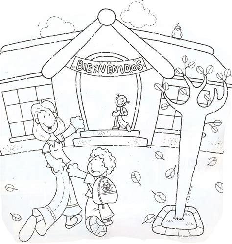 dibujos para colorear kinder eligiendo colegio y escuela infantil