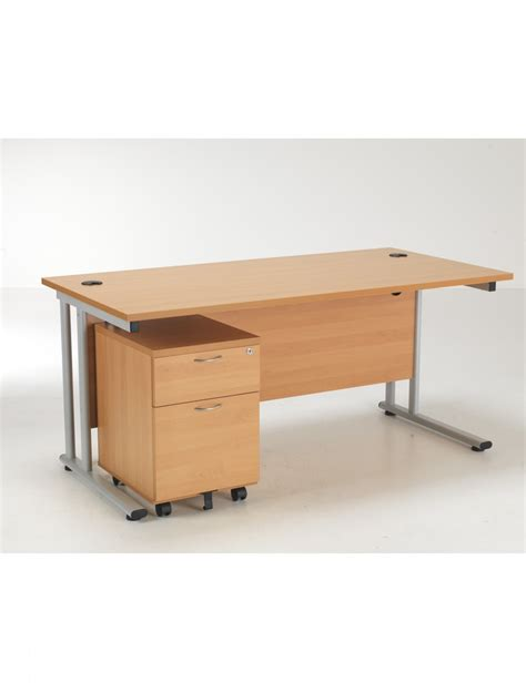 Tc Desk And Pedestal Lite1680bund2be 121 Office Furniture Pedestal Office Desk