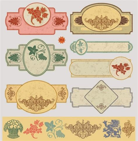 printable decorative tags lovely vintage decorative labels vector set welovesolo