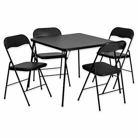 card table chairs set flash furniture 5 folding card table and chairs in