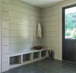 mudroom floor ideas modern gray mudroom features tongue and groove walls