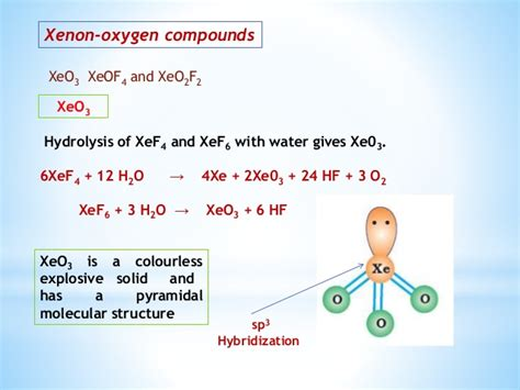 Amazing facts about noble gases........... Xef3 Molecular Geometry