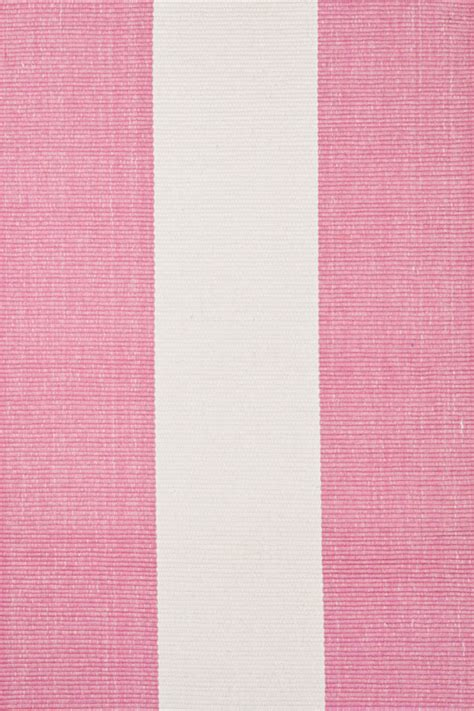 White And Pink Rug by Yacht Stripe Woven Cotton Rug In Pink And White By Dash