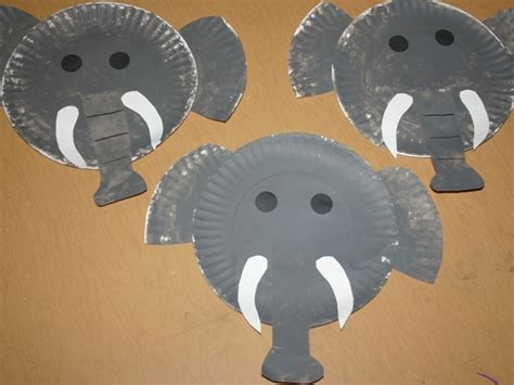 Elephant Paper Plate Craft - letter e elephants blessings overflowing
