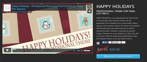 final cut pro news template announcing five new theme templates for final cut pro x