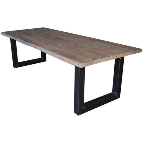 Handcrafted Dining Tables - contemporary oakwood tree trunk table handcrafted for