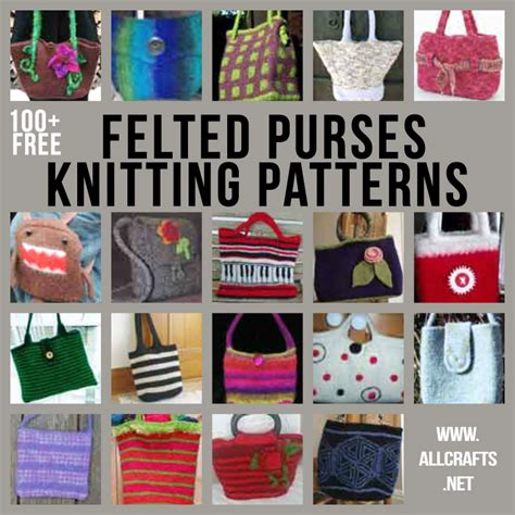 all crafts 100 free felted purses knitting patterns allcrafts free