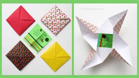 Origami Os - an easy way to fold paper into thirds origami