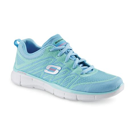 skechers s above all stretch knit green blue