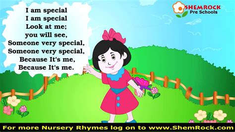 special song i you nursery rhymes i am special songs with lyrics