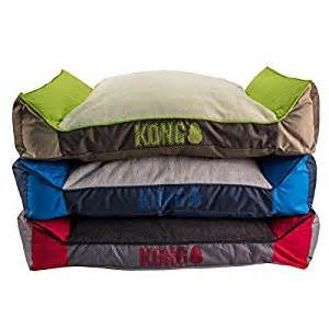 Amazon Dog Beds Amazon Com Kong Lounger Dog Bed Red Pet Supplies