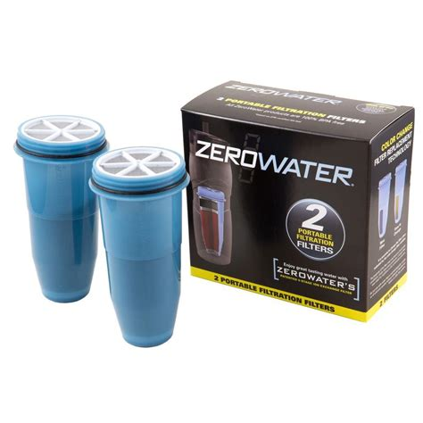 zero water filters zero water portable filtration filters 2 pack zr 230 the home depot