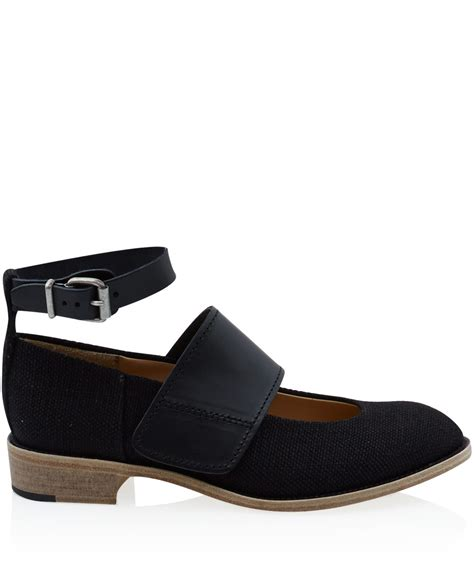 acne studios shoes acne studios black daan leather and fabric shoes in black