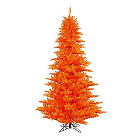 vickerman 6 foot 6 inch orange fir pre lit christmas tree