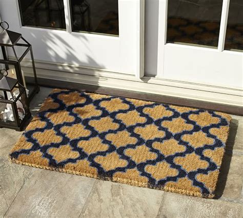 outdoor front door rugs ogee doormat pottery barn