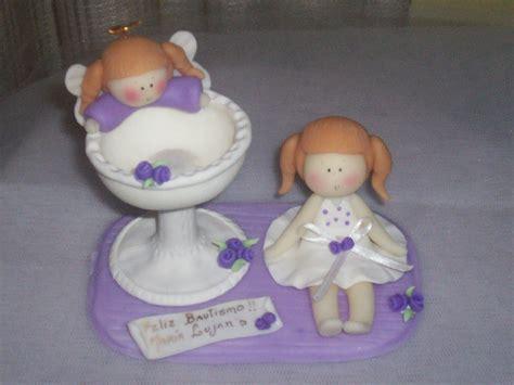 adorno de bautismo hadas y souvenirs en porcelana fria adorno para torta de