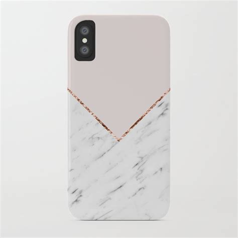 peony blush geometric marble iphone case  marbleco society