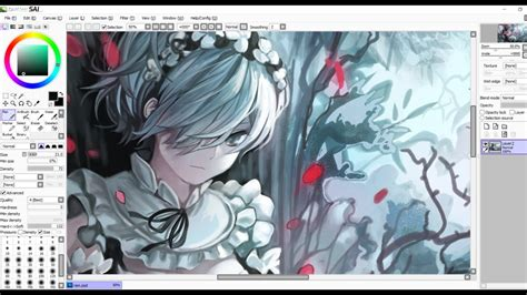 paint tool sai fan made anime speedpaint re zero rem fanart on