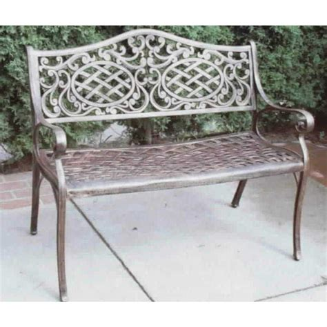 oakland living patio furniture oakland living 174 mississippi settee 122317 patio