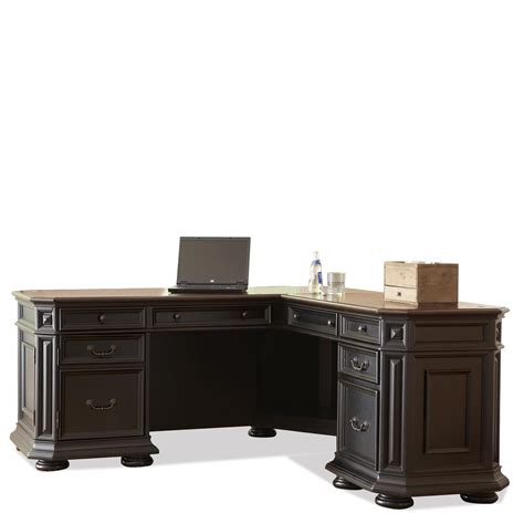 riverside home office l desk and return 44728 hickory