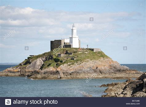 houses to buy in south wales light house in the mumbles swansea in south wales stock photo royalty free image
