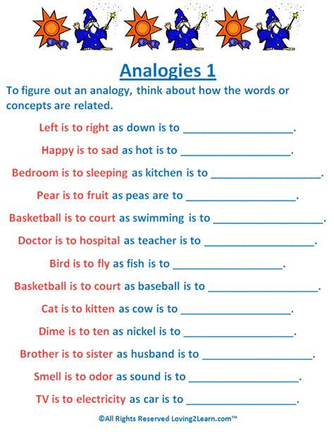 Analogy Worksheets by Analogies Worksheet Defendusinbattleblog