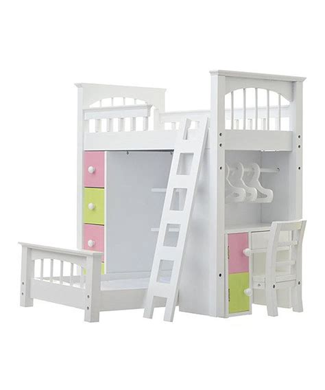 american bunk bed with desk look at this zulilyfind doll loft bed set by laurent