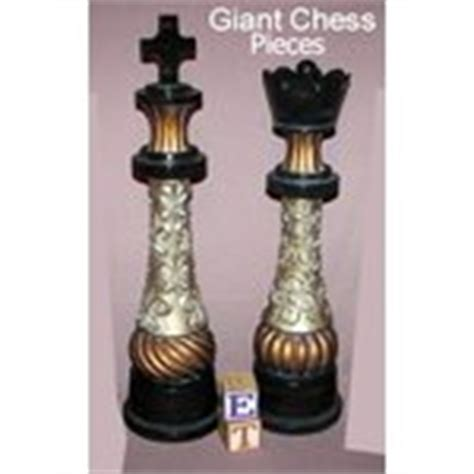 king and queen home decor 20 quot chess pieces king queen home decor figurines new 09