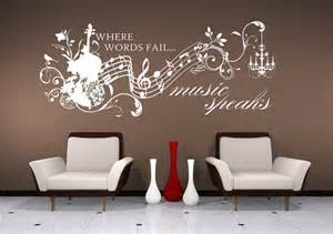 Music Wall Art Stickers Wall Decals Music Speaks Collage Vinyl Lettering Text