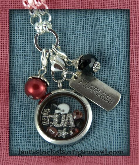 roll tide university of alabama handmade football fan 1000 images about origami owl on pinterest