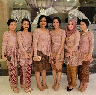 Batik Prada Songket Dan Embos model kebaya seragam trend 2018 untuk pernikahan acara