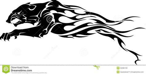 panther flame tattoo stock illustration image of black