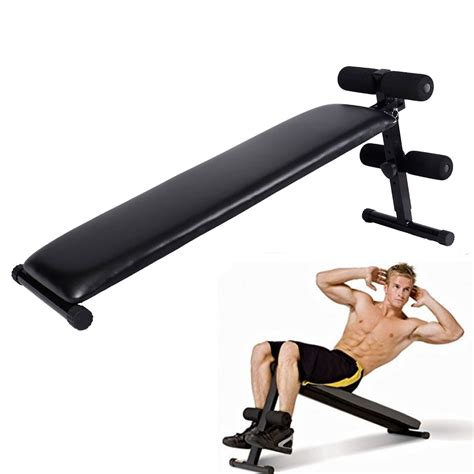 folding adjustable ab sit up bench decline home crunch fitness board ebay