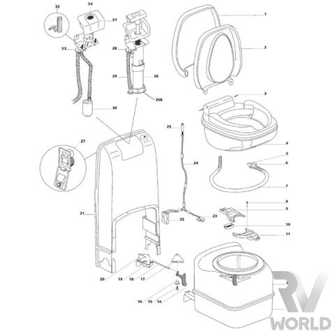Thetford Toilet Exploded View by Thetford C402c Toilet Parts Diagram Diagram Auto Wiring