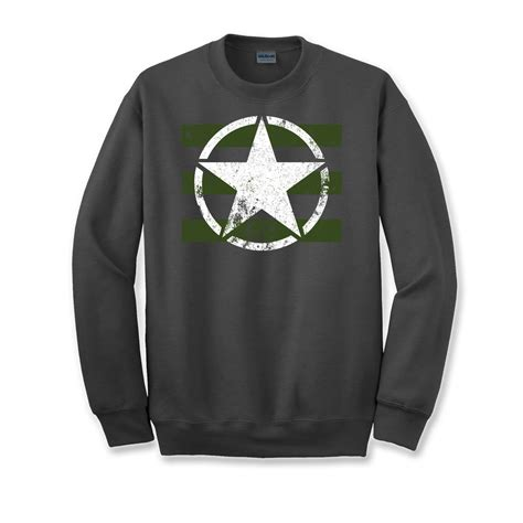 Army White Sweater mens us logo army green white pride sweater