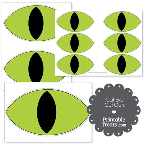 free printable cat eyes printable green cat eye cut outs printable treats com