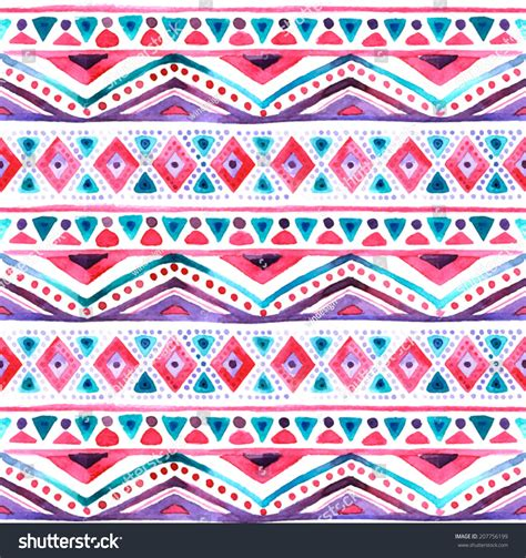 aztec pattern stock seamless colorful aztec pattern stock vector 207756199