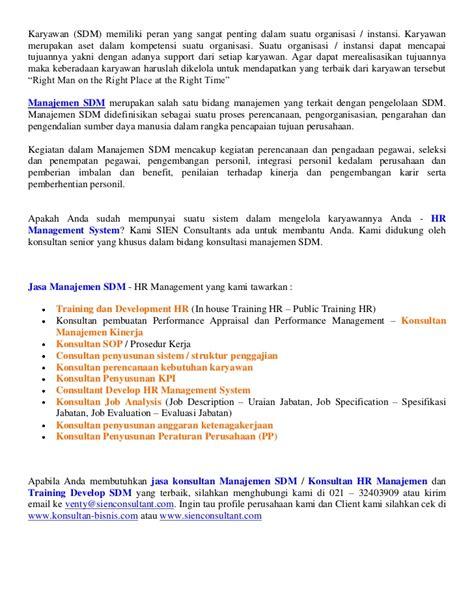 email hrd unilever consultant hr management jasa penyusunan job description