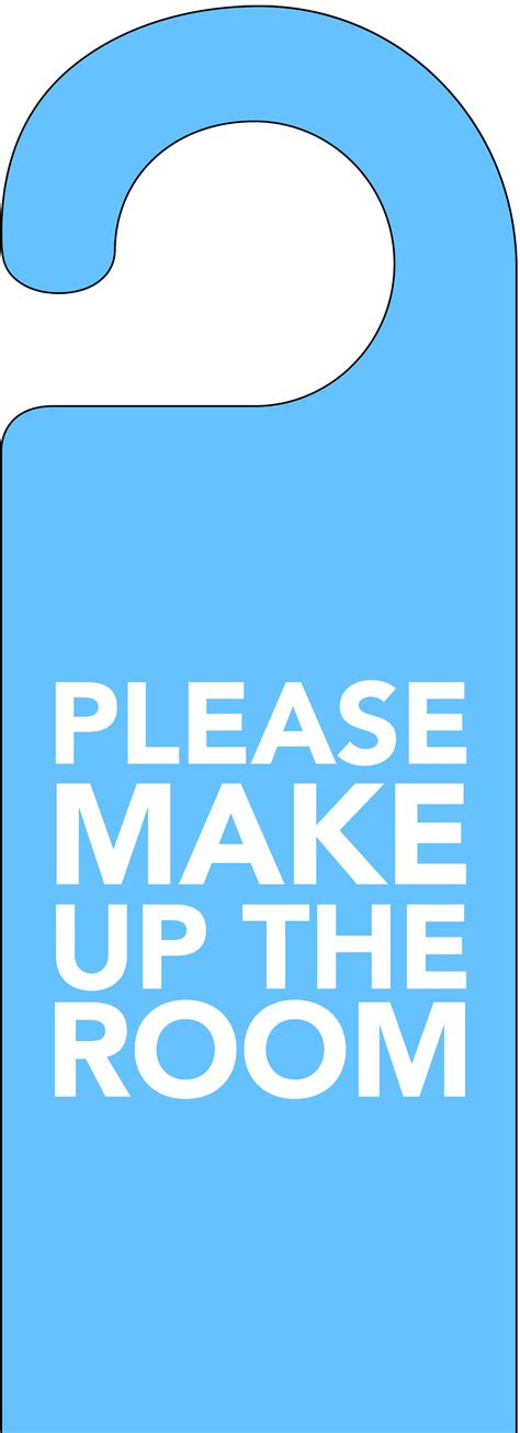 make up the room blue make up the room door hanger