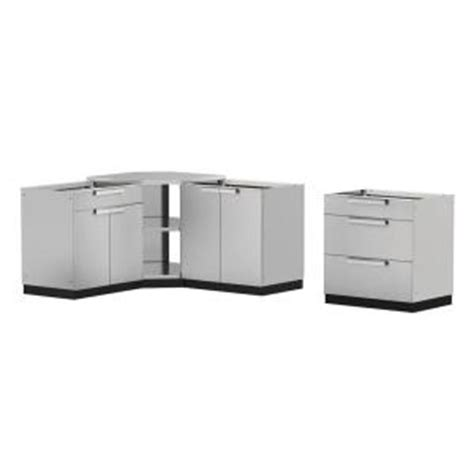 home depot outdoor kitchen cabinets newage products stainless steel classic 4 110x36x76