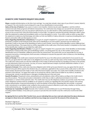 domestic wire transfer fillable sjhfcu domestic wire transfer request