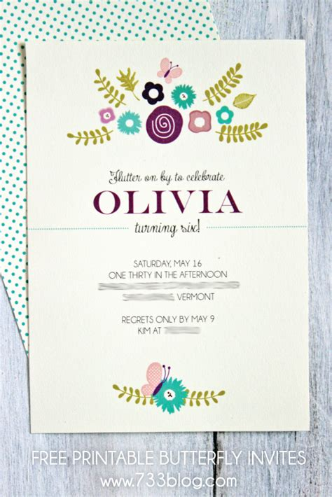 printable birthday invitations butterfly printable butterfly birthday invitation seven thirty three