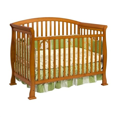 Wood Convertible Cribs Davinci Thompson 4 In 1 Convertible Wood Crib With Toddler Rail In Oak M3201o
